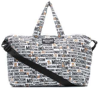 MOSCHINO BAMBINO Baby printed cotton changing bag