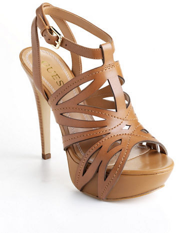 GUESS Oliane Leather Platform Sandals