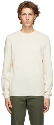 Norse Projects Off-White Light Wool Sigfred Sweater