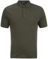 T By Alexander Wang Short Sleeve Polo Shirt Army