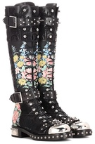 Alexander McQueen Embellished leather boots