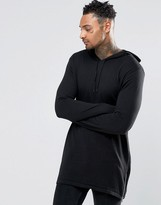 Asos Longline Knitted Hoodie with Zips