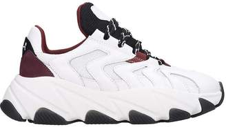 Ash Extreme Sneakers In White Leather And Fabric