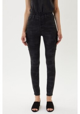 Thumbnail for your product : Kancan Women's High Rise Cargo Skinny Jeans