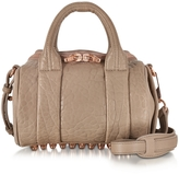 Alexander Wang Mini Rockie Latte Pebbled Leather Satchel