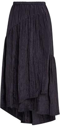 Vince Textured Tiered Midi Skirt