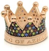 Azhar Re Silver and Zircon Crown Ring