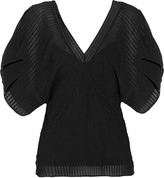 Ralph Lauren Black Label Annalise silk-georgette top