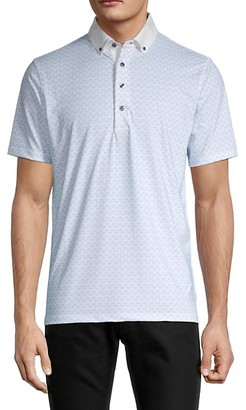 Greyson Bluetooth-Print Golf Polo