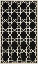 Safavieh Dhurries Collection DHU548L Hand Woven and Ivory Wool Area Rug, 5 feet by 8 feet