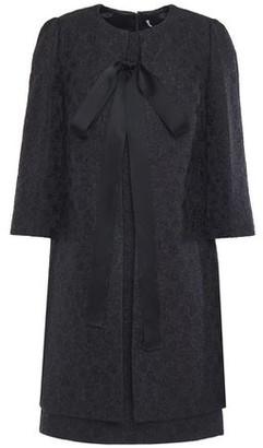 Dolce & Gabbana Bow-detailed Cotton And Silk-blend Brocade Dress