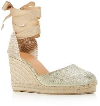 Castaner Women's Carina Ankle-Tie Espadrille Wedge Sandals