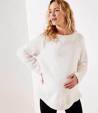 LOFT Maternity Fleece Sweatshirt