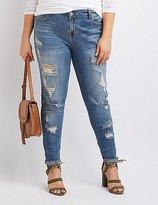 Charlotte Russe Plus Size Destroyed Boyfriend Jeans