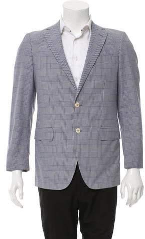Façonnable Glen Plaid Two-Button Blazer w/ Tags