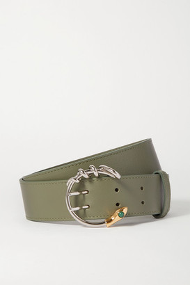 Chloé Roy Leather Waist Belt - Forest green