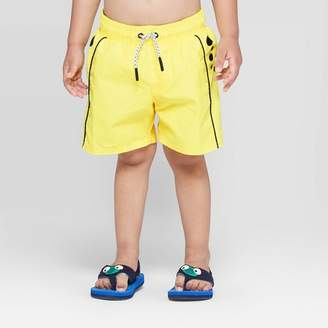 Cat & Jack Toddler Boys' Cheetah Swim Trunks Yellow