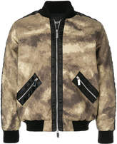 Blood Brother camouflage print bomber jacket