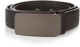 Bottega Veneta Engraved-buckle intrecciato leather 3.5cm belt