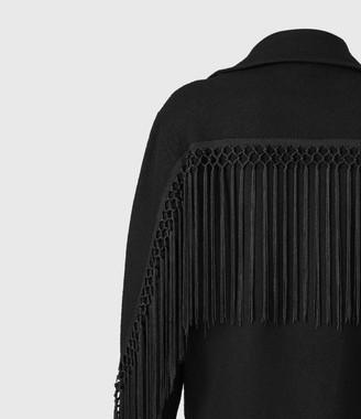 AllSaints Robyn Merino Wool Biker Jacket