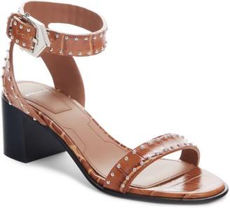 Givenchy Studed Croc Embossed Sandal
