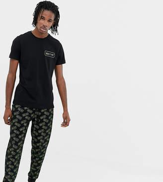 Asos Design DESIGN pyjama set with bedtime print-Black