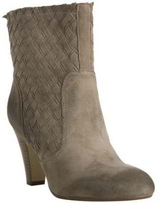 Ash taupe basketwoven suede 'Macy' ankle boots