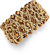 INC International Concepts Bracelet, Gold-Tone Bronze Glass Beaded Stretch Bracelet