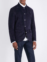 Brunello Cucinelli Collared suede jacket