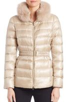 Herno Fox Fur-Trim Down Puffer Jacket
