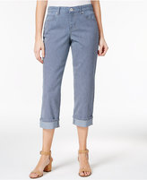 Style&Co. Style & Co Railroad Striped Capri Jeans, Created for Macy's