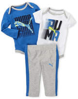 Puma Newborn Boys) 3-Piece Logo Bodysuits & Pants Set