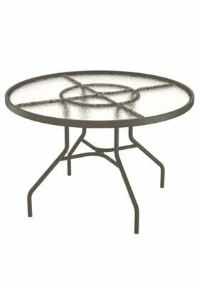 "Tropitone Site Furnishings Round 27"" Table Finish: Mocha, Table Size: 42"" L x 42"" W"