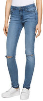 Calvin Klein Jeans Distressed Cotton-Blend Jeans