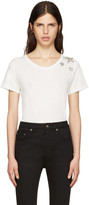 Saint Laurent White Embroidered Stars T-Shirt
