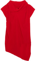 Vivienne Westwood Cave Draped Georgette Top - Red