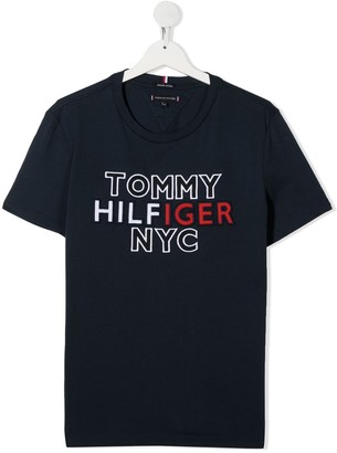 Tommy Hilfiger Junior TEEN embroidered logo T-shirt