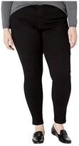 Levi's Plus Plus 720 High-Rise Super Skinny (Blackest Night) Women's Jeans
