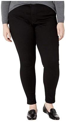 Levi's(r) Plus 720 High-Rise Super Skinny (Blackest Night) Women's Jeans