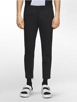 Calvin Klein Platinum Super Skinny Fit Twill Ankle-Zip Biker Pants
