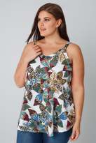 Yours Clothing Multicoloured Tribal Palm Print Soft Jersey Vest Top