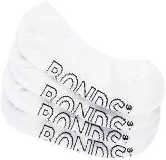 Bonds Womens Logo Light Liner Socks 4 Pack