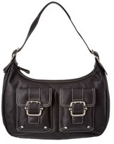 Longchamp Leather Satchel.