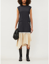 Acne Studios Striped sleeveless wool mini dress