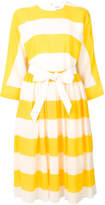 Maison Rabih Kayrouz striped belted dress