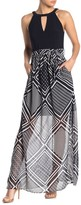 Vince Camuto Printed Chiffon Twofer Dress