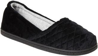 Dearfoams Women's Microfiber Velour Slippers -Katie