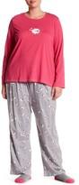Hue Sleepy Sheepy 3-Piece Pajama Set (Plus Size)
