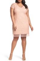 Adrianna Papell Plus Size Women's Sequin Lace Sheath Dress