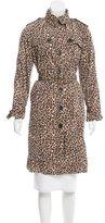 Rachel Zoe Leopard Print Trench Coat